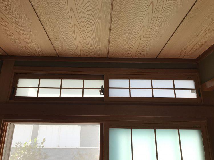 N様邸和室欄間内窓 アフター